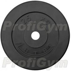 Диск «Антат» тренировочный обрезиненный 25 кг