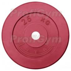 Диск «Антат» цветной обрезиненный 25 кг