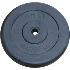 Диски обрезиненные, чёрного цвета, 26 мм, Atlet MB-AtletB-10