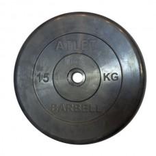 Диски обрезиненные, чёрного цвета, 26,31,51 мм, Atlet MB-AtletB-15