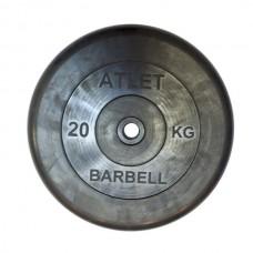 Диски обрезиненные, чёрного цвета, 26, 31, 51 мм, Atlet MB-AtletB-20