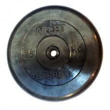 Диски обрезиненные, чёрного цвета, 26, 31, 51 мм, Atlet MB-AtletB-25