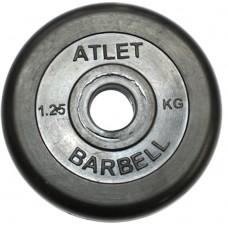 Диски обрезиненные, чёрного цвета, 26,31,51мм, Atlet MB-AtletB