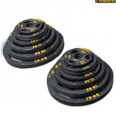Набор олимпийских дисков 51 мм для тренажеров Powertec 255 LBS (115,68 кг)
